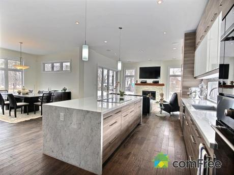 I love the flow of this space. The transition from the dining room, kitchen and living room is perfect and seamless.
