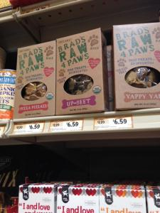 Ignore the fact that these are made for dogs (they're good for humans too) but I love Brad's Raw Foods despite the price.