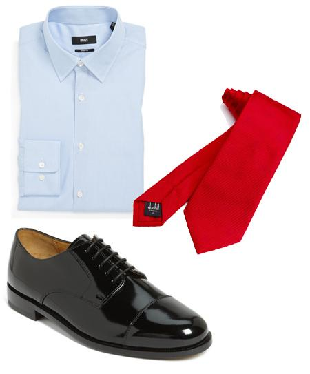 Our suggestion number two: wear contrasting colors, such as blue and red to get a big visual effect!