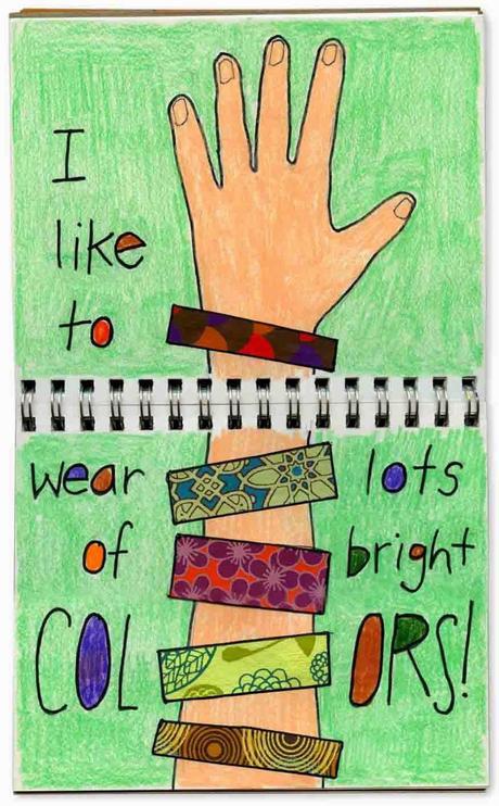 Collage Bracelet Journal Page