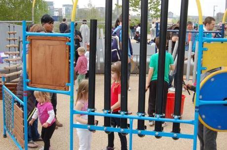 Queen Elizabeth Park, Music Maze Playground - Musical Pipes
