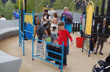 Queen Elizabeth Park, Music Maze Playground - Pipe Drums