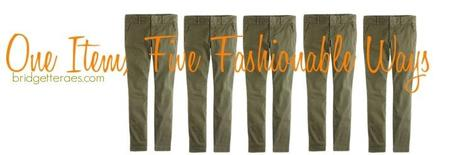 Five Ways to Wear Olive Pants This Summer