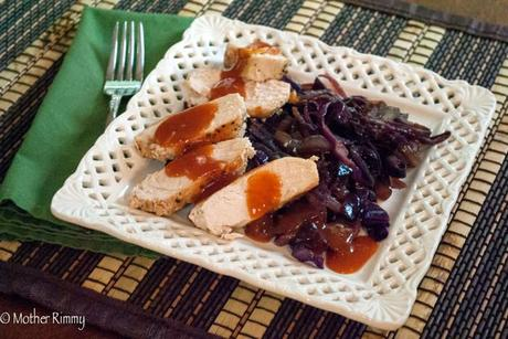 Sweet and Sour Chicken and Red Cabbage