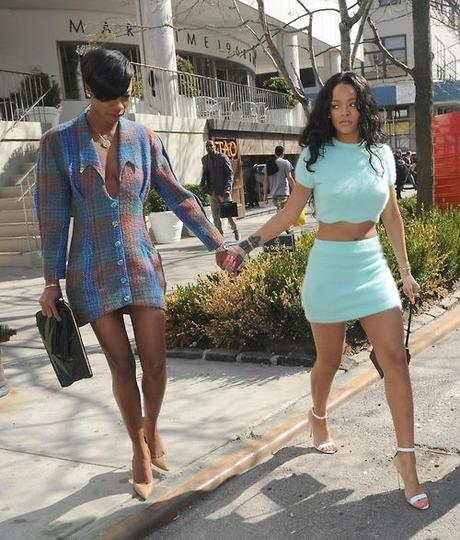 Rihanna And Melissa Spotted Having Lunch