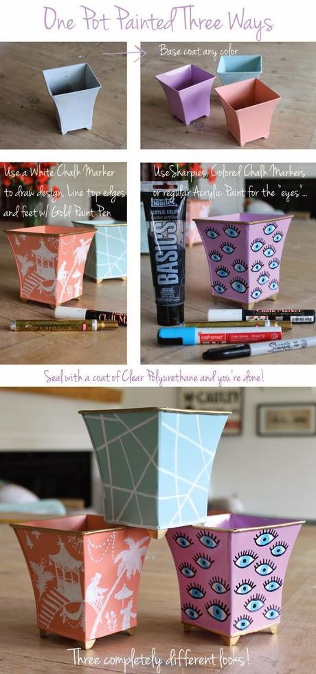 One Pot Painted Three Ways