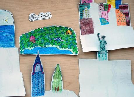 3D Cities Postcards by Alexandra Balashova
