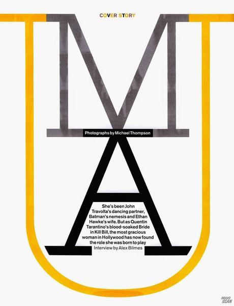 Uma Thurman For GQ Magazine, UK, May 2014