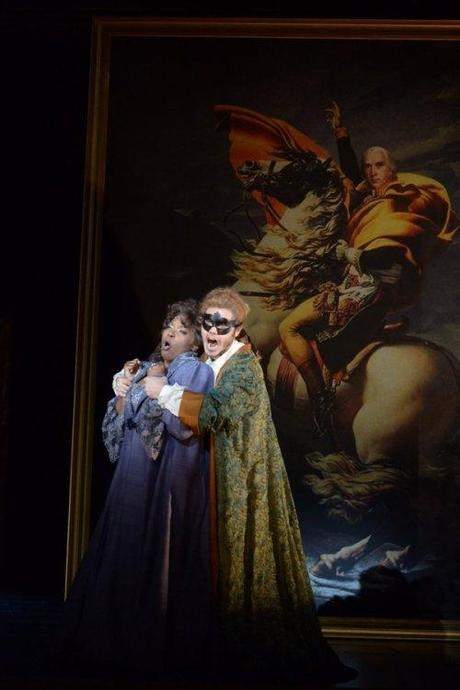 Elliot Madore as Don Giovanni and Michelle Johnson as Donna Anna in DON  GIOVANNI at the Academy of Music | Photo by Kelly and Massa