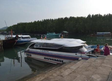 Speed Boat at Bang Rong Pier, Travel to Koh Yao Yai from Phuket Airport