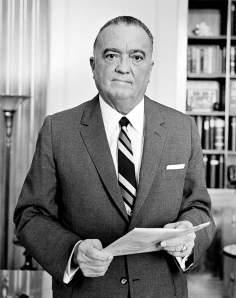 J.Edgar Hoover - a man of many files - in 1961