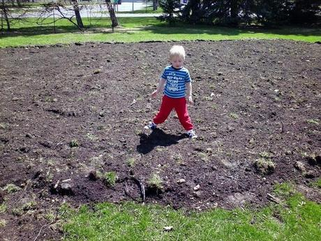 The garden is tilled! Thanks Be for good friends with good tractors!