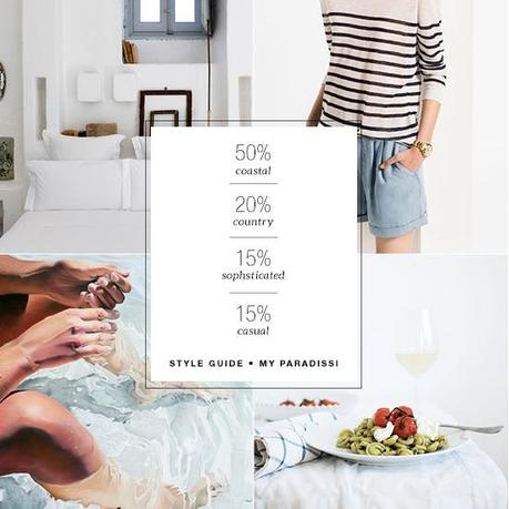50% coastal, 20% country, 15% sophisticated and 15% casual style guide | My Paradissi