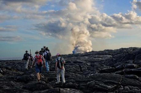Hike to Kilauea Volcano, Hawaii