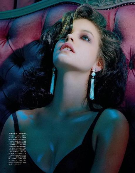 Barbara Palvin for Miles Aldridge in Vogue Japan