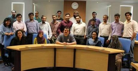 P@SHA workshop with Jawwad Ahmed Farid (center) and Karachi School for Business & Leadership students.