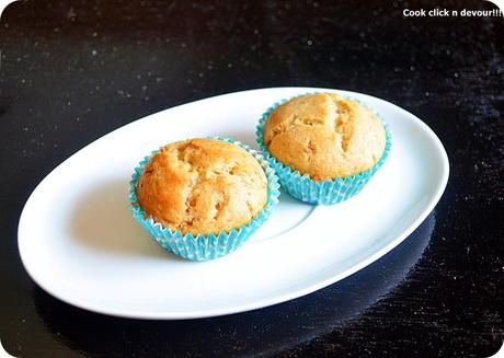 Eggless jam swirled muffin recipe