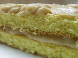 Coconut Cake with Caramel Filling