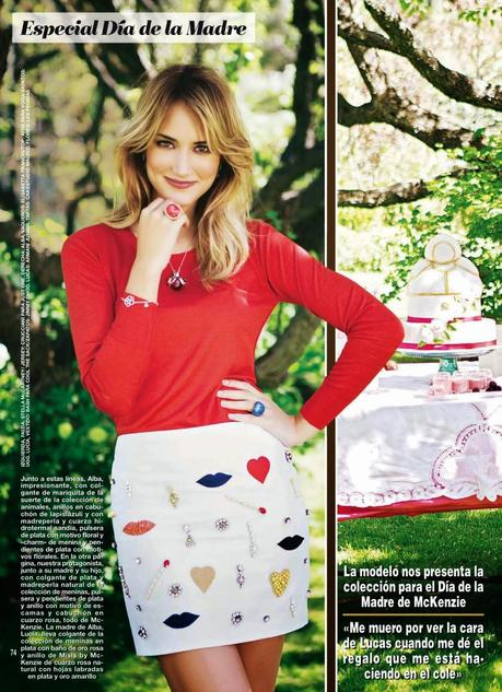 Alba Carrillo For Hola Magazine, Spain, May 2014