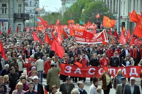 Russia brings back May Day! Good job VV Putin!