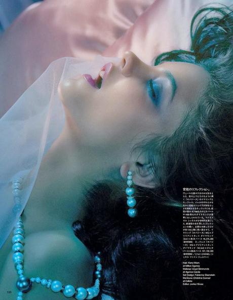 Barbara Palvin by Miles Aldridge for Vogue Magazine, Japan, June 2014