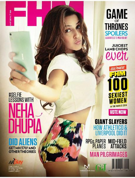 Neha Dhupia For FHM Magazine, India, May 2014