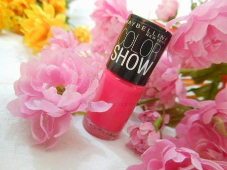NOTD : Hot Pink Glitter Nails