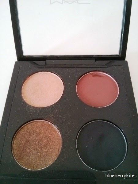 MAC Eyeshadow swatches: metallic