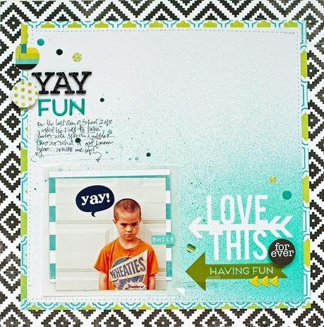 inspired by...Kim Jeffress...a layout using Favorite Things