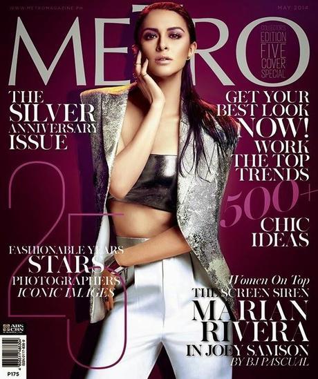 Marian Rivera,Toni Gonzaga,Megan Young,Kim Chiu,Liza Soberano for Metro Magazines, May 2014