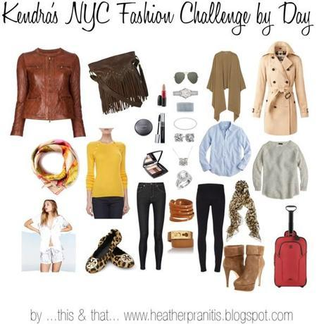 Kendra's NYC Fashion Challenge Day Look