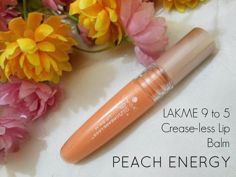 Lakme 9 to 5 Crease-Less Lip Balm : Peach Energy