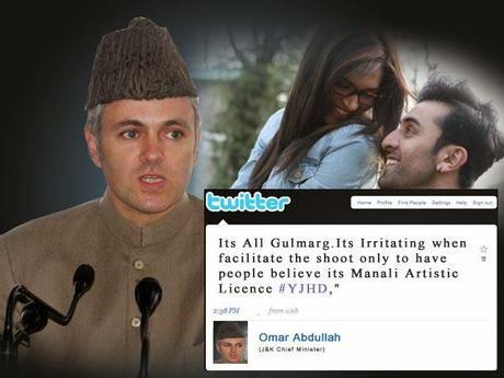 Omar Abdullah says Yeh Jawani Hai Deewani was Shot in Kashmir not Manali, the Movie Failed to Credit Kashmir