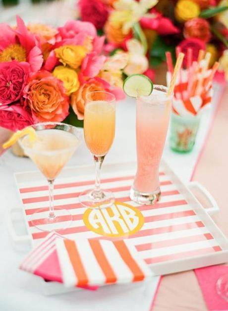 Coral And Pink Cocktails Preppy Party