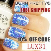Born Pretty Store Geometry Chain Nail Art Water Decals Review