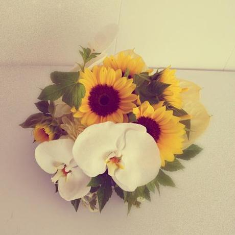 Orchids Sunflower Bouquet