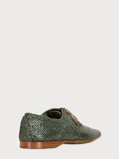 Woven With Ease:  Koil Hand-Woven Leather Derby Lace-Up Shoes