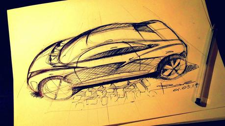 Car sketch video tutorial: the Tip-Up perspective