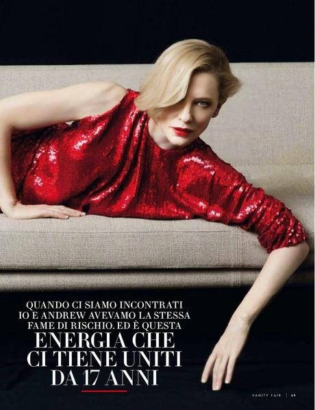 Cate Blanchett For Vanity Fair Magazine, Italy, May 2014