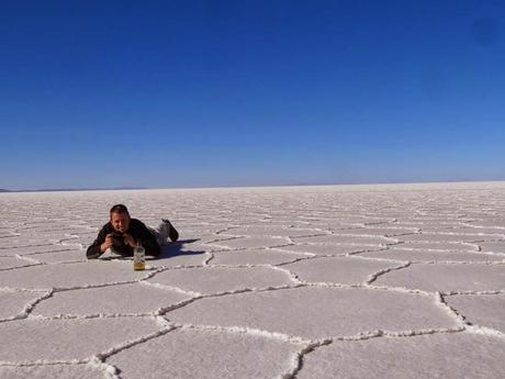 The angle of attack for most perspective photos in Uyuni