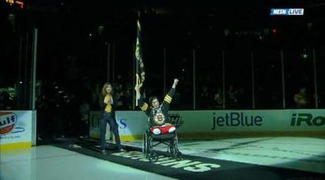 Jeff Bauman at Bruins game May 4 2013