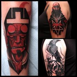 Hellboy tattoos
