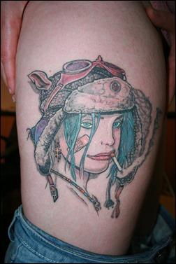 Tank Girl tattoo