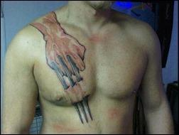 Wolverine claw tattoo