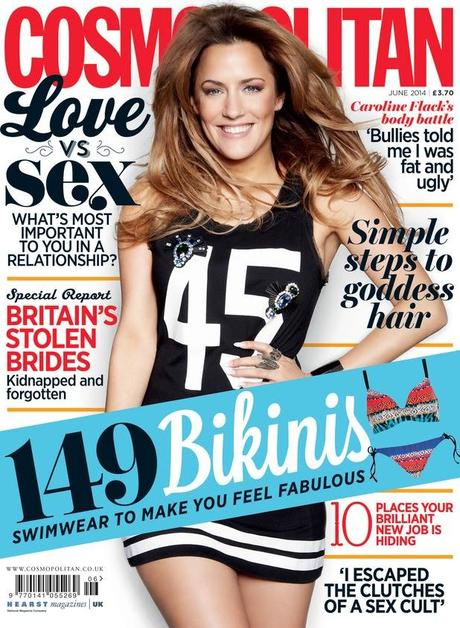 Caroline Flack for Cosmopolitan Magazine, UK, June 2014