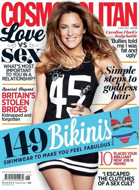 Caroline Flack for Cosmopolitan Magazine, UK, June 2014