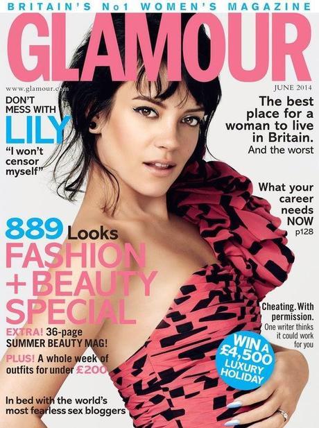 Lily Allen by Damon Heath for Glamour Magazine, UK, June 2014