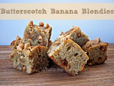 Butterscotch Banana Blondies- Guest Post from Hun Whats for Dinner.