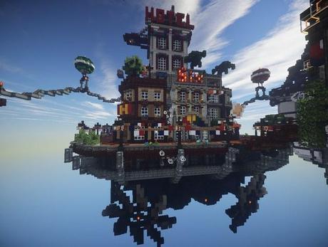 This Minecraft Replica Of Bioshock Infinite S Floating