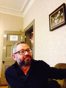 Giacinto Palmieri in an upstairs room last night